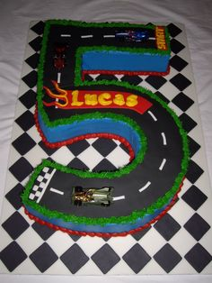 motorcycle cakes | Hot Wheels Race Track Cake