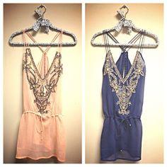 bathing, blue, soft pink, coverup, dresses
