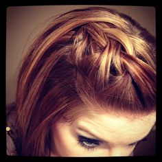 Braiding idea that could even work on short hair - I've used this one on little kids too and it stays in pretty well if you have a secure enough clip.