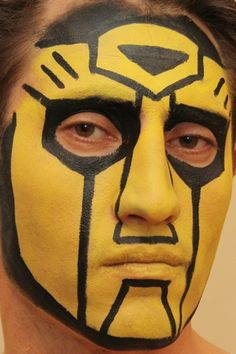 Bumblebee face paint