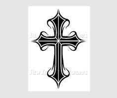 Cross Pattern Cross Silhouette Silhouette by NewYorkNeedleworks, $8.00