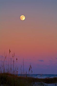 Atlantic Moonrise / Cape Hatteras National Sea Shore, NC