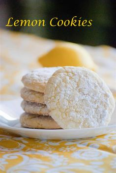 craftyc0rn3r: Lemon Cookies. Also making these bad boys today!