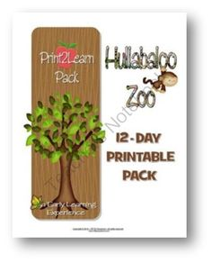 Hullabaloo Zoo PRINT2LEARN 12 Day Printables Packet from RFTS Preschool on TeachersNotebook.com (109 pages)  - Hullabaloo Zoo PRINT2LEARN 12 Day Printables Packet 109 pages  Includes 12 educational printables to print out and use in your classroom. This packet includes several hands-on activities to use when introducing and teaching all about the Zoo and Zoo anima