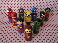peg people, guns, craft, heroes, glue gun, superhero peg, paints, kid, the avengers