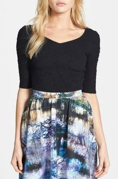 We love the texture of this V-Neck Top