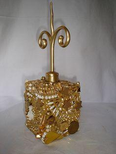 Gold mosaic box