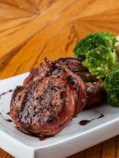 YUMMM: Pistachio & Cherry Encrusted Pork Tenderloin Medallions. This simple recipe is surprisingly healthy but looks so gourmet! | via @SparkPeople #food #meat #dinner