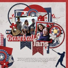 Baseball Fans | Keystone Scraps: Boys of Summer; AK Designs: Template Pack 46 Wendy Tunison Designs: Me and My Shadow