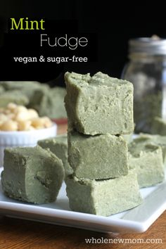 Mint Fudge, naturally green for for St. Patrick's Day! Xylitol works perfectly iin this, or you could sweeten with stevia.