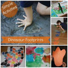 Simple & Fun Dinosaur Footprint Activities