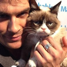 With grumpy cat!