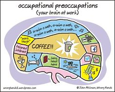 """LIKE"" if this looks familiar. Happy Friday! work, laugh, occup preoccup, stuff, funni, coffee, true, humor, brain"
