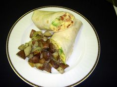 Southwest Breakfast Wrap with scrambled egg, avocado, chorizo sausage ...