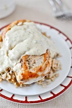 Chicken with Jalapeno Cream Sauce