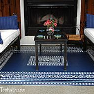 Stenciled rug on concrete!