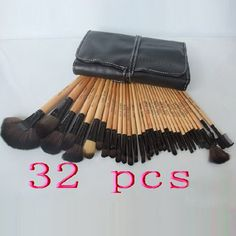 bobbi brown set 32 brushes with black pouch black pouch, set 32, makeup, 32 brush, bobbi brown, brushes, beauti, hair, brown set