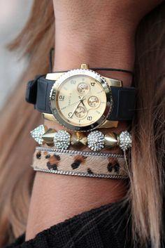 Leopard & Spikes, Watch ♥✤
