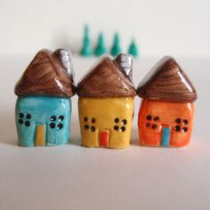 houses - fimo sculpey polymer clay