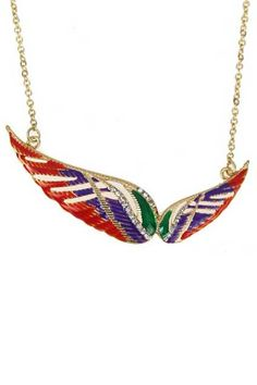 Colorful Veins Pendant Necklace    $12.99 #romwe