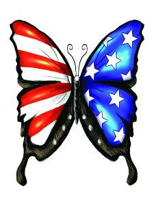 LOVE! Adorable USA butterfly temporary tattoo