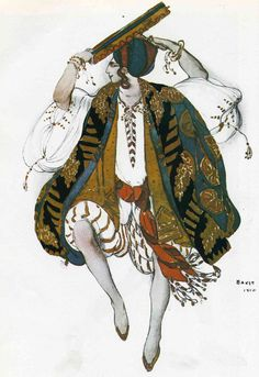 ballet Russe costume design by Bakst