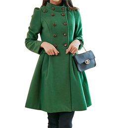 Hey, I found this really awesome Etsy listing at https://www.etsy.com/listing/169225127/green-women-wool-coatwomens
