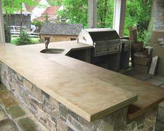 outdoor living, outdoor bars, kitchen countertops, outdoor kitchens, kitchen counters