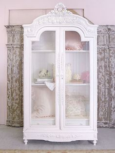 Shabby chic, french, armoire, pink, white