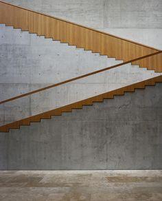 Staab Architekten - Georg Schäfer Museum, Schweinfurt diy ideas, concrete detail, interior design, stairs, museums, staab architekten, architectur stair, wood architecture, staircas