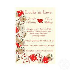Casino Las Vegas Wedding Invitation #lasvegas #wedding
