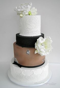 wedding cake by https://www.facebook.com/SweetDispositionCakes