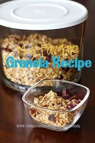 Clean Lean Mommy Machine: My Favorite Granola Recipe