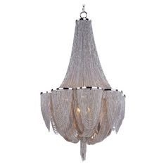 Dramatically draped with nickel-finished jewelry chains, this beautiful chandelier casts an ornate glow over your decor. $961   Product:...