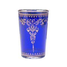 Blue Moroccan Tea Glasses - Set of 6 | dotandbo.com