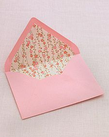 How to Line an Envelope - great use for leftover or gently used wrapping paper, photo printouts, etc.