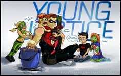 """""""HeroSitting"""" young justice"""