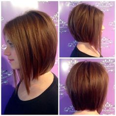 Hairstyles for Round Faces: Perfect A-line Bob Cut!