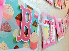 Cupcake Birthday  Banner