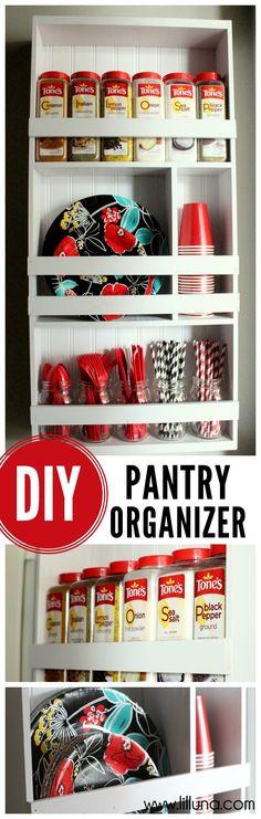 DIY Pantry Organizer Tutorial on { lilluna.com }