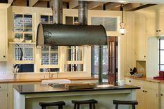kitchen — Barn-style home on South Carolina's Spring Island