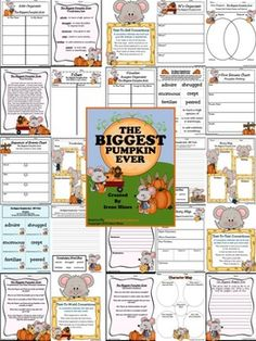 "The Biggest Pumpkin Ever ~ Written By Steven Kroll... This October Unit has 50 pages of ideas, activities and printables that correlate with the book ""The Biggest Pumpkin Ever."" ~Class Discussion Questions & Ideas ~ Vocabulary Words, Definition List, Practice, Graphic Organizers And Printables ~ Making Connections ~ Character Webs ~ Writing Activities ~ ABC Order Activity Cards ~ Venn Diagram ~ Story Maps ~ Anchor Charts"