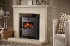wood burner fireplace designs - Google Search