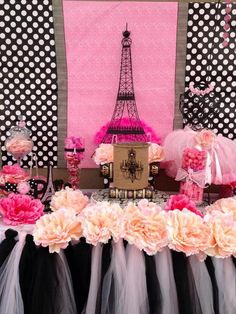 "Photo 1 of 4: Parisian, French, Paris, Pink, Pink and black / Birthday ""Oh La La...Paris"" | Catch My Party"