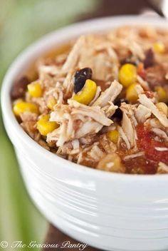 Slow Cooker Southwestern 2 Bean Chicken - Weight Loss Foods -