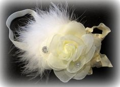 Glamor Sparkle Rose Marabou Double Ruffle by MyBellaBellaBowtique, $11.00