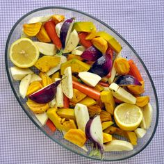 Maple Roasted Vegetables - this colorful side dish would be perfect with Easter dinner. It's a very popular recipe in these parts.