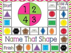 Free Name That Shape board game by Down Under Teacher.