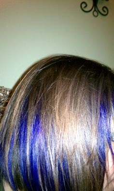 My peek-a-boo purple highlights