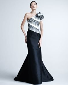 Carolina Herrera gown is available at L'elite 617.424.1020